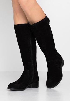 LEATHER BOOTS - Kozaki - black