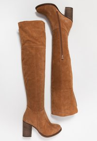 Anna Field - LEATHER OVERKNEES - Over-the-knee boots - cognac - 3