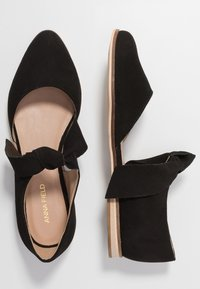 Anna Field - LEATHER ANKLE STRAP BALLET PUMPS - Ankle strap ballet pumps - black - 3