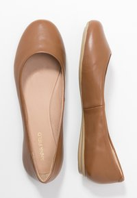 Anna Field - LEATHER BALLET PUMPS - Ballerines - cognac - 3