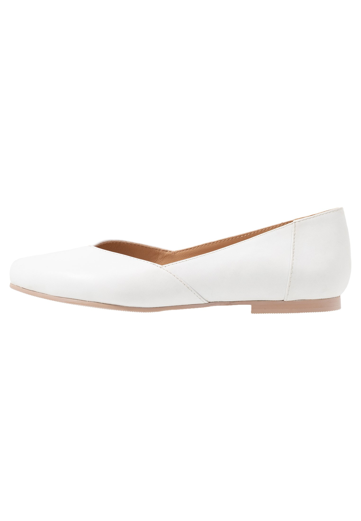 Anna Field LEATHER BALLERINAS - Ballerinasko - white