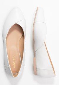 Anna Field - LEATHER BALLERINAS - Klassischer  Ballerina - white - 3