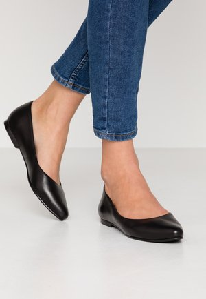 LEATHER BALLERINAS - Ballerinat - black