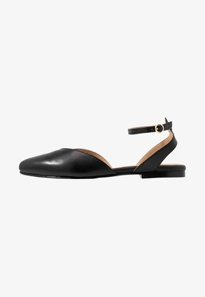 LEATHER  - Slingback ballet pumps - black