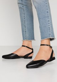 Anna Field - LEATHER  - Slingback ballet pumps - black - 0