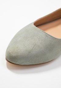 Anna Field - LEATHER BALLERINAS - Ballet pumps - grey - 2