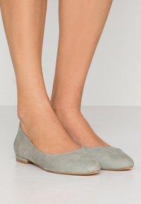 Anna Field - LEATHER BALLERINAS - Ballet pumps - grey - 0