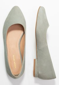 Anna Field - LEATHER BALLERINAS - Bailarinas - grey - 3