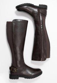 Anna Field - Vysoká obuv - dark brown - 3