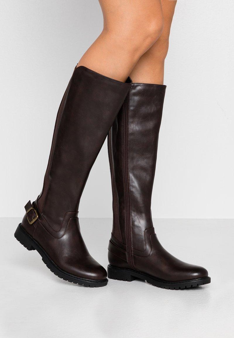 Anna Field - Vysoká obuv - dark brown