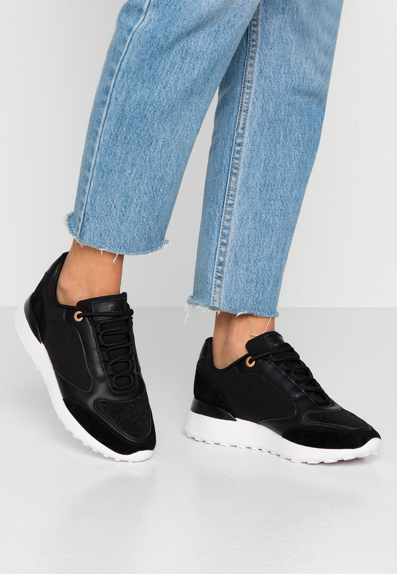 Anna Field - LEATHER SNEAKERS - Matalavartiset tennarit - black