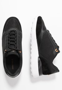Anna Field - LEATHER SNEAKERS - Matalavartiset tennarit - black - 3