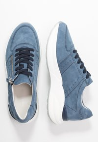 Anna Field - LEATHER SNEAKERS - Trainers - blue - 3