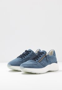 Anna Field - LEATHER SNEAKERS - Trainers - blue - 4