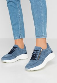 Anna Field - LEATHER SNEAKERS - Trainers - blue - 0