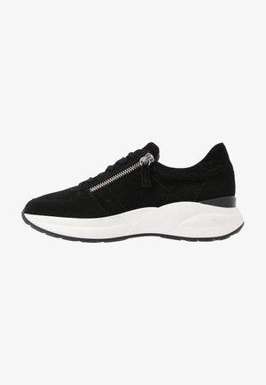 LEATHER SNEAKERS - Sneakers - black