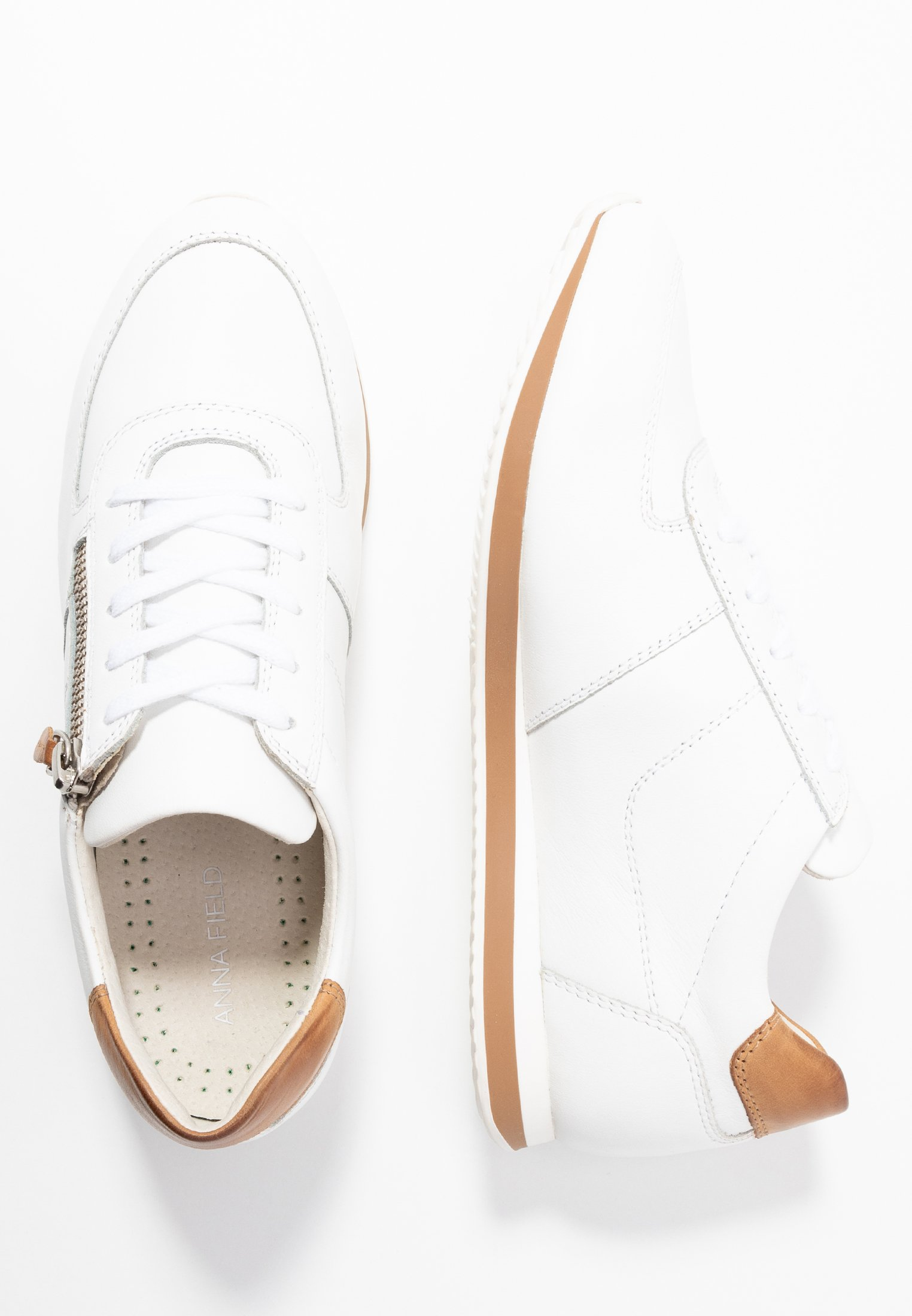 Anna Field Leather Sneakers - Basse White 6JKs4fm