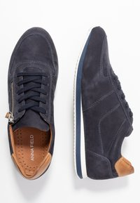 Anna Field - LEATHER SNEAKERS - Trainers - dark blue - 3