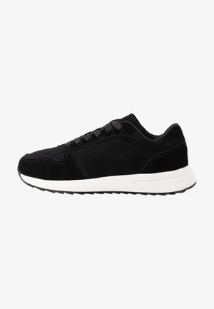 LEATHER TRAINERS - Baskets basses - black