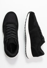 Anna Field - LEATHER TRAINERS - Baskets basses - black - 3