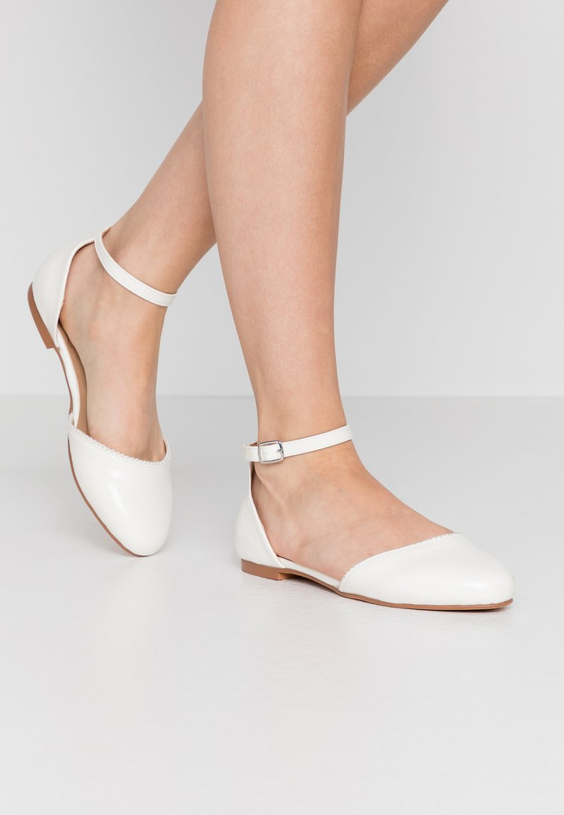 Anna Field - Ankle strap ballet pumps - white
