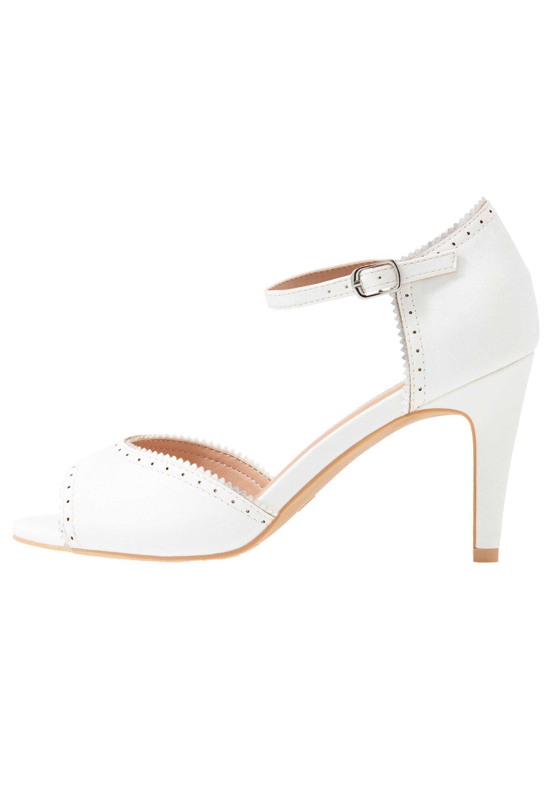 Anna Field Højhælede peep-toes - white