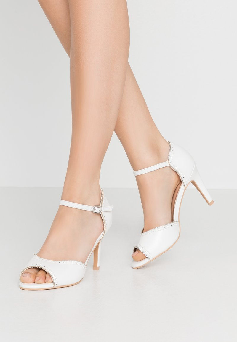 Anna Field - Høye hæler med åpen front - white