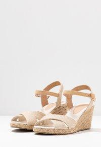 Anna Field - Wedge sandals - beige - 4