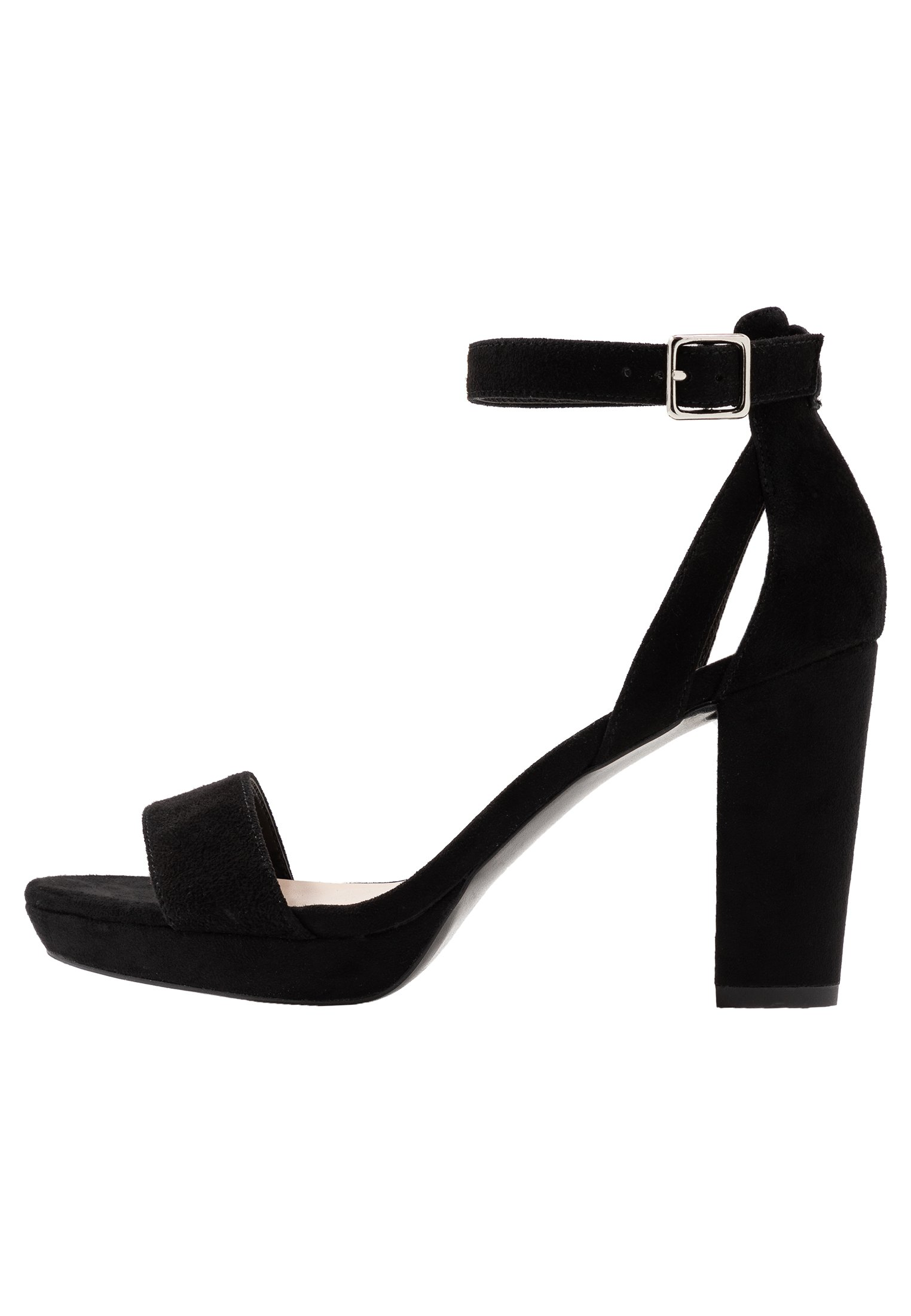 Anna Field LEATHER HEELED SANDALS - Sandały na obcasie - black