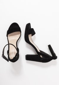 Anna Field - LEATHER HEELED SANDALS - High heeled sandals - black - 3