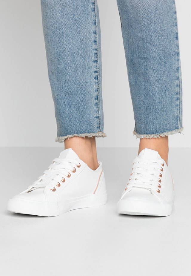 Sneakers - rosegold/white