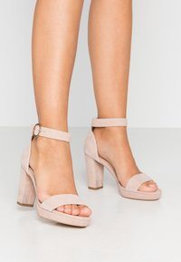Anna Field - LEATHER HEELED SANDALS - Sandaler med høye hæler - nude - 0