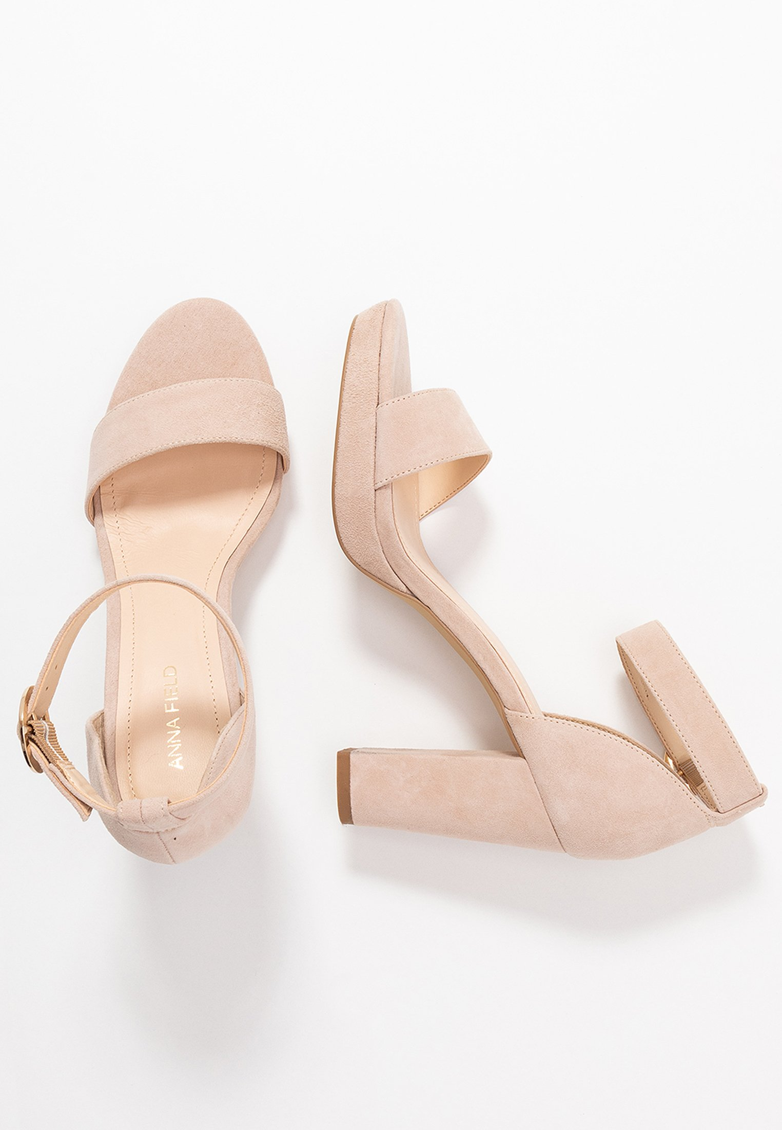 Anna Field Leather Heeled Sandals - Sandaletter Nude