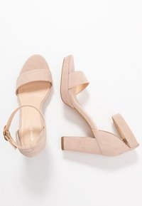 Anna Field - LEATHER HEELED SANDALS - Sandaler med høye hæler - nude - 3