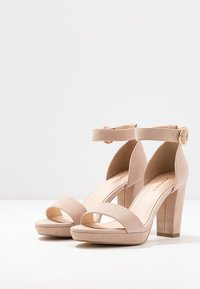 Anna Field - LEATHER HEELED SANDALS - Sandaler med høye hæler - nude - 4