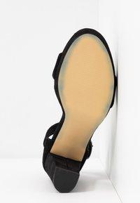 Anna Field - LEATHER HEELED SANDALS - High heeled sandals - black - 6