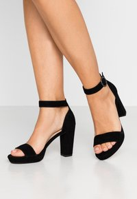 Anna Field - LEATHER HEELED SANDALS - High heeled sandals - black - 0