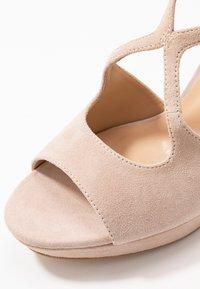 Anna Field - LEATHER HEELED SANDALS - Sandály na vysokém podpatku - nude - 2