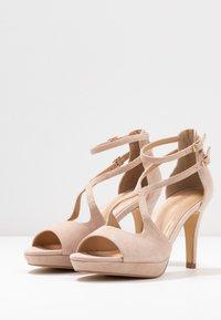 Anna Field - LEATHER HEELED SANDALS - Sandály na vysokém podpatku - nude - 4