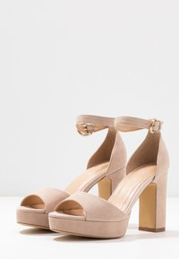 Anna Field - LEATHER HIGH HEELED SANDALS - High heeled sandals - nude - 4