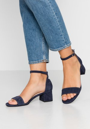 LEATHER SANDALS - Sandály - dark blue