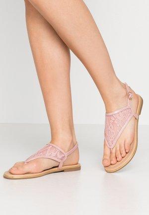 Sandaler m/ tåsplit - rose