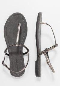 Anna Field Wide Fit - Flip Flops - gunmetal - 3