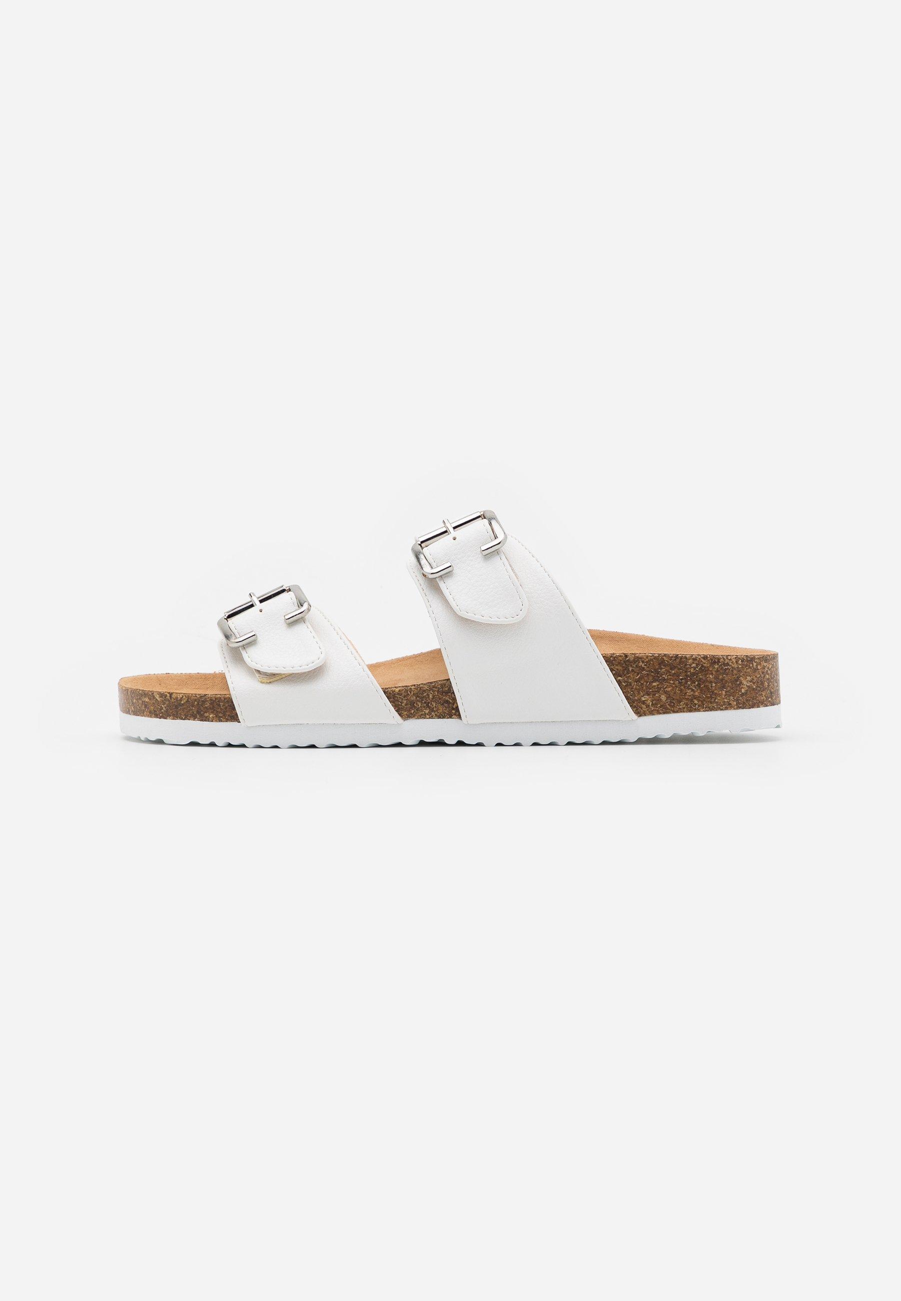 Zapatos mule blancos   Calzado destalonado online para mujer