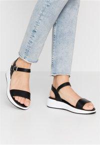 Anna Field - Wedge sandals - black - 0