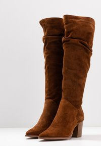Anna Field - LEATHER BOOTS - Boots - cognac - 3