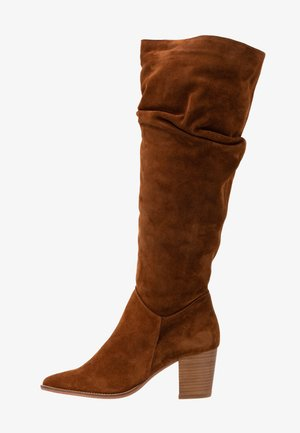 LEATHER BOOTS - Boots - cognac