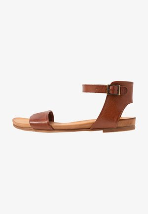 LEATHER SANDALS - Riemensandalette - cognac
