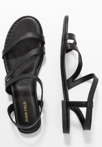 Anna Field - LEATHER SANDALS - Sandals - black - 3