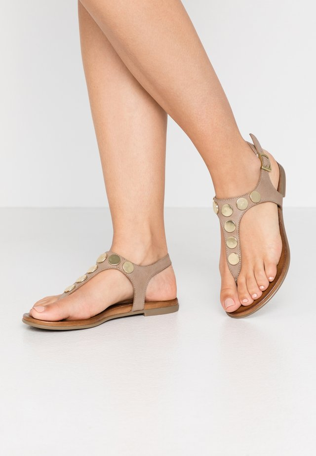 LEATHER - Infradito - taupe